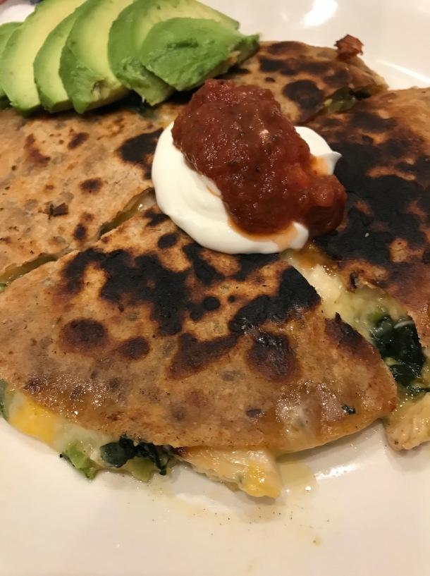 Quesadillas with Homemade Salsa Salad5