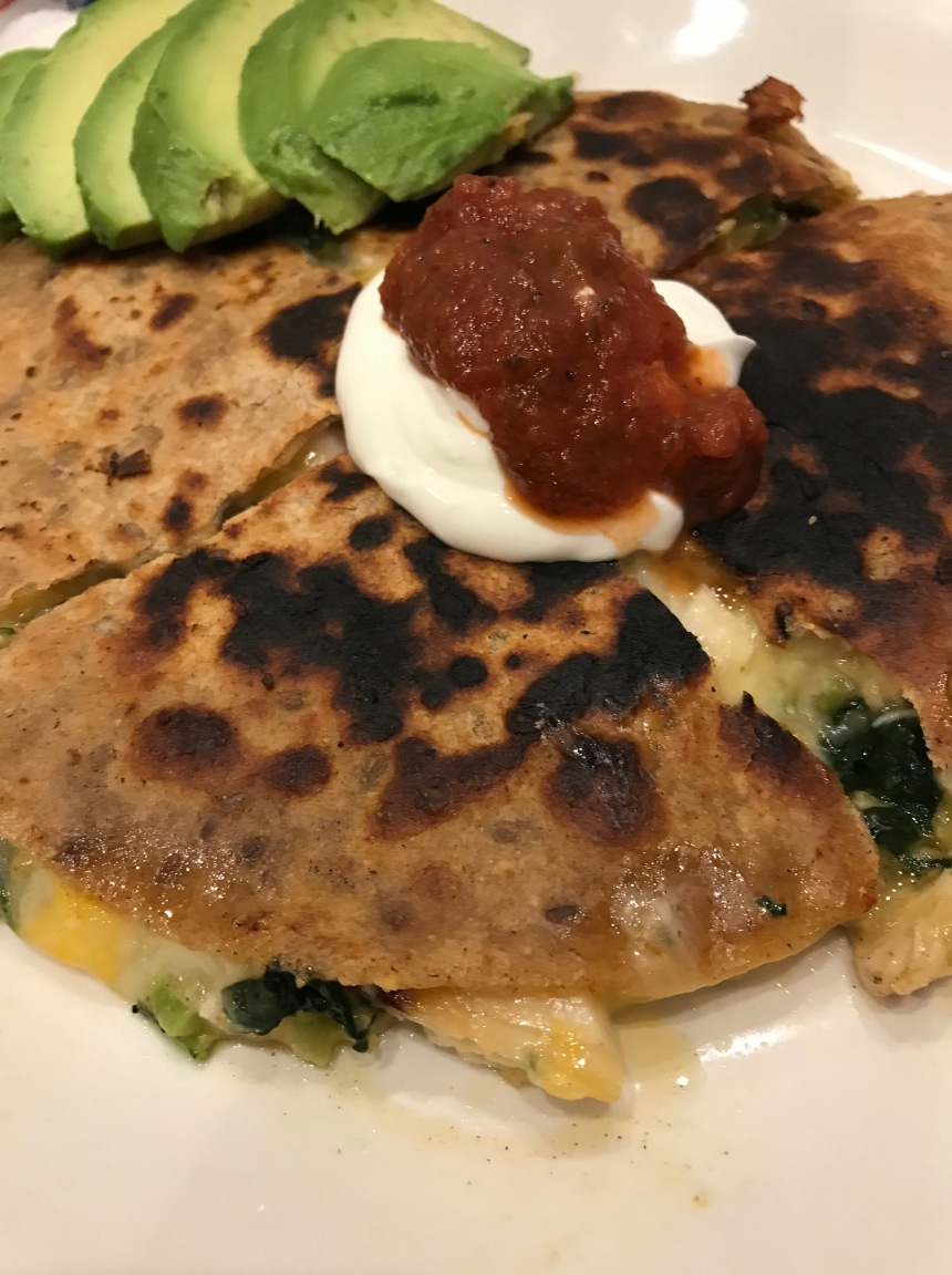 Quesadillas with Homemade Salsa Salad5