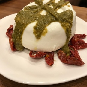 Burrata with Sundried Tomatoes and Truffle Pesto