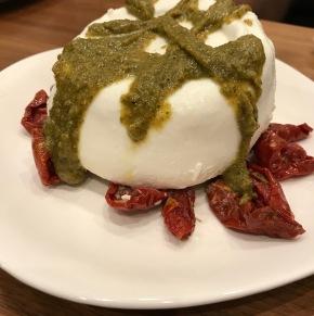 Burrata with Sundried Tomatoes and TrufflePesto