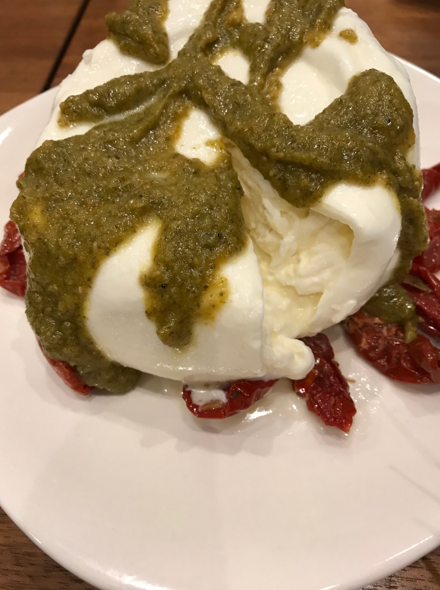 burrata with sundried tomatoes and truffle pesto5