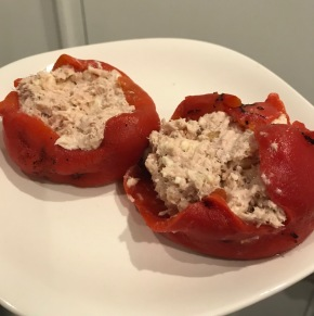 Tuna Stuffed Roasted BellPeppers