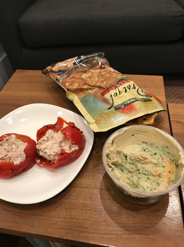 tuna stuffed roasted peppers5