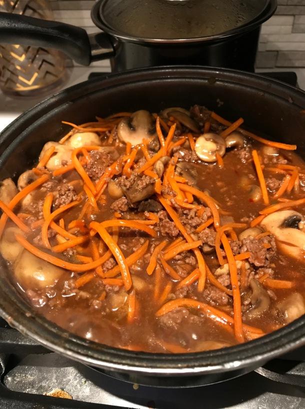 korean bbq ground beef over rice2