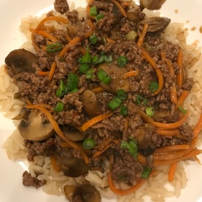Korean Beef over Rice