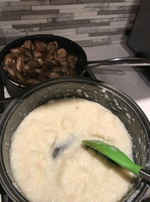 Meatballs Over Mashed Cauliflower with Mushrooms1