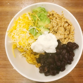 Small Kitchen Cooking: Cauliflower Rice Burrito Bowl