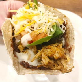 Small Kitchen Cooking: Chicken Tacos with Black Bean Dip andRanch