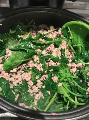 Rotini with Sausage, Baby Kale, Peas, and Pesto2