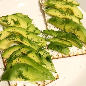 Snickity Snack: Avocado and Goat Cheese Matzah