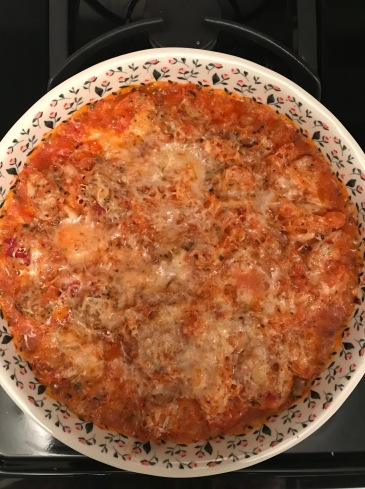 Baked spaghetti squash and meatballs4