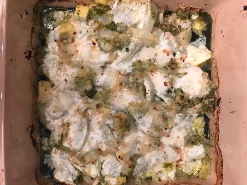 Chicken Pesto Zucchini Bake2