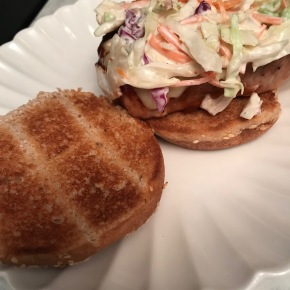 BBQ Pork Chop Sandwiches with Ranch Slaw