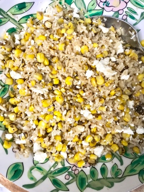 Roasted Corn and Brown Rice Salad