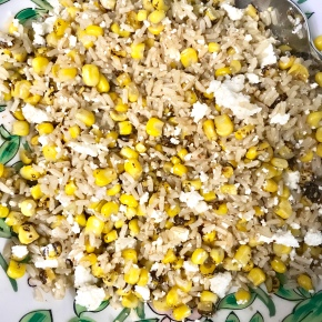 Roasted Corn and Brown RiceSalad