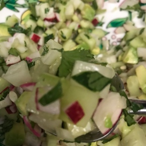 Cucumber, Radish, and Avocado Salsa