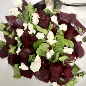 Roasted Beets with Goat Cheese and Mandarin Vinaigrette