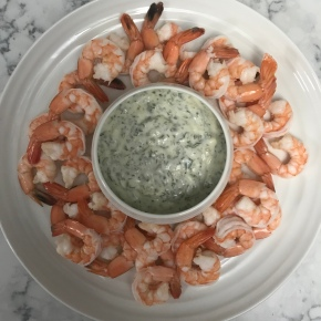 Shrimp Cocktail with Lemon CaperAioli