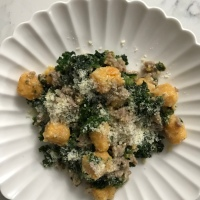 Sweet Potato Gnocchi with Kale and Sausage