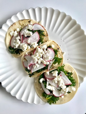 Kale and Hummus Tacos