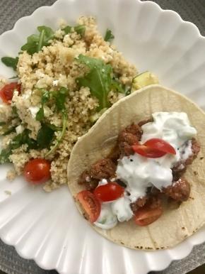 Mediterranean Merguez Tacos