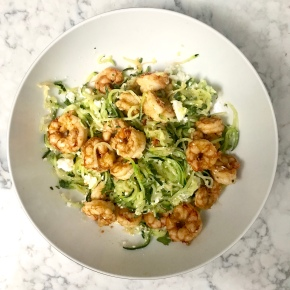 Chili Lime Shrimp with Zoodles