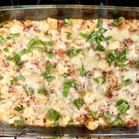 Chicken Caprese Cauliflower Casserole
