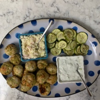 Turkey/Zucchini Meatballs with Feta