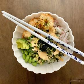 Shrimp Poke Bowls