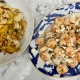 Swordfish & Shrimp with capers and feta + Roasted Cauliflower & Leeks