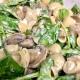 Mushroom Spinach Goat Cheese Pasta