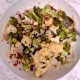 Roasted Broccoli & Cauliflower with Bacon, Almonds, & Capers